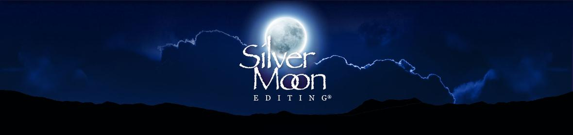 Banner picture for the About Me and FAQ's page for Silver Moon Editing